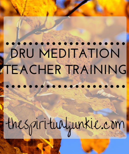 dru meditation teacher training