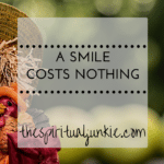 a smile costs nothing