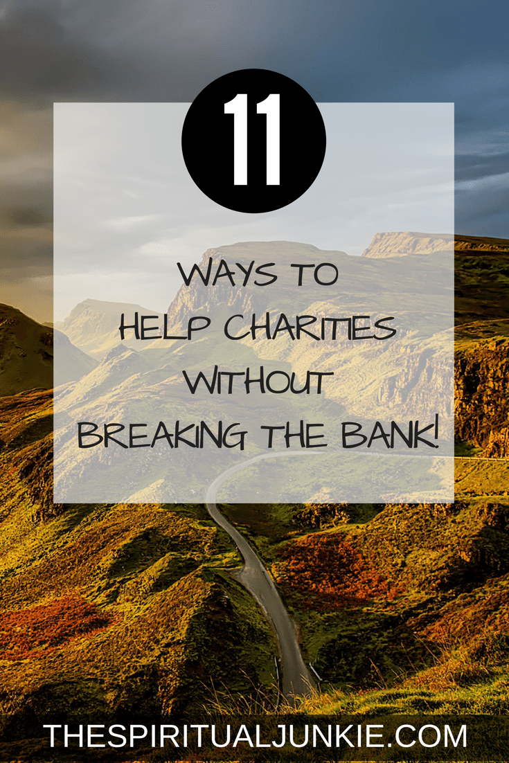 Karma Yoga. The yoga of selfless giving. 11 ways to help charities without breaking the bank.