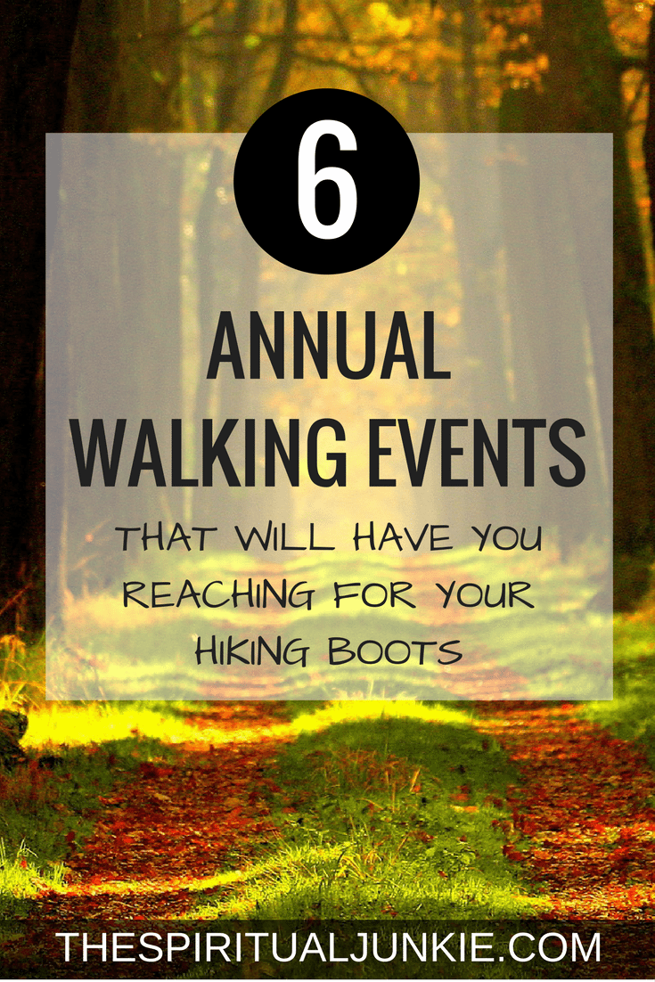 6 annual walking events.