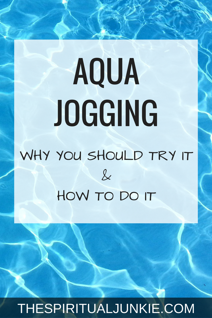 Aqua jogging in deep water.